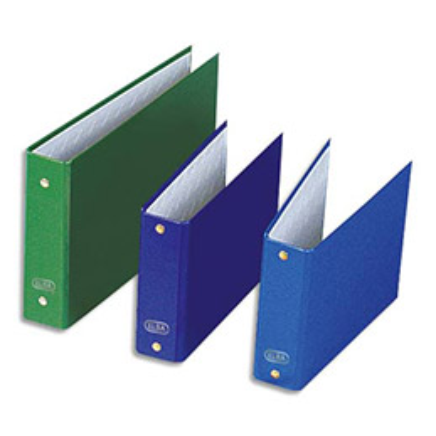 Classeurs à fiches 2 anneaux - en balacron - dos 4 cm -  format A5 à l'italienne - coloris assortis