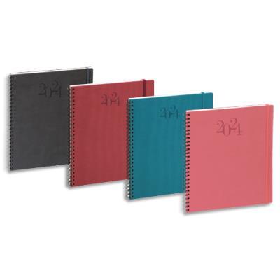Semainier bureau Exacompta Swan 22 - 1 semaine sur 2 pages - format 18,5x22,5 cm - coloris assortis