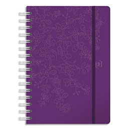 Agenda Oxford Beauty - spiralé - grille Like Me - format 15x21 cm - couvertures assorties (photo)