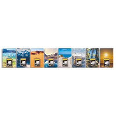 Plaque Lecas Paysages avec bloc éphéméride comique - 17x25 cm + bloc 6x9 cm