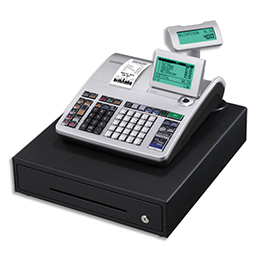 Caisse enregistreuse Casio SES400 grand tiroir argent - compatible fiscalité 2018 (photo)
