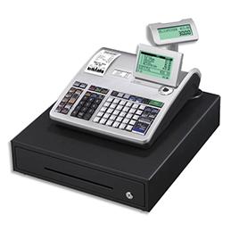 Caisse enregistreuse Casio SES3000  grand tiroir argent - compatible fiscalité 2018 (photo)