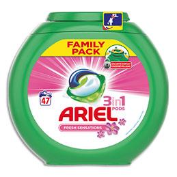 Lessive liquide Ariel Ecodoses 3 en 1 - parfum pink fresh - boîte de 47 doses (photo)