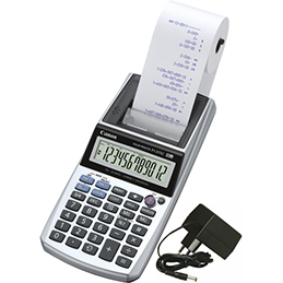 Calculatrice imprimante portable 12 chiffres Canon P1-DTSC II+adaptateur AD11 inclus