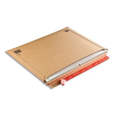 Pochette d'expédition rigide Colompac - carton - L57 x H42 cm - épaisseur remplissage 5 cm - brun (photo)