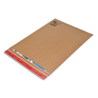 Pochette d'expédition rigide Colompac - carton - B2 L53 x H72 cm - épaisseur remplissage 5 cm - brun (photo)