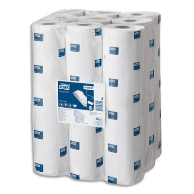 Draps d'examen Tork - L37,5 x l50 cm - longueur 57 mètres - 152 feuillets - 2 plis - blanc (photo)
