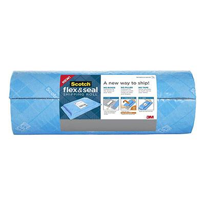 Rouleau d'expédition Flex Seal Scotch - 38 cm x 6 m - bleu