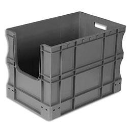 Bac à ouverture sur la largeur Viso -L60 x H42 x P40 cm - gerbable - gris