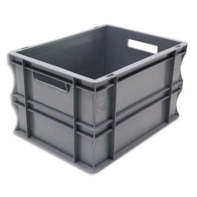 Bac de rangement Viso - bac de rangement - charge 20 kg - L40 x l30 x H23 cm - gerbable - gris (photo)