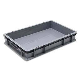 Bac de rangement Viso - bac de rangement - charge 20 kg - L60 x l40 x H10 cm - gerbable - gris (photo)