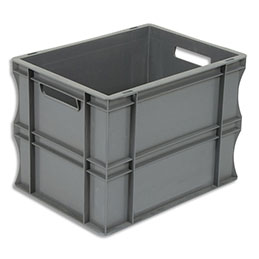 Bac de rangement Viso - bac de rangement - charge 20 kg - L40 x l30 x H29 cm - gerbable - gris