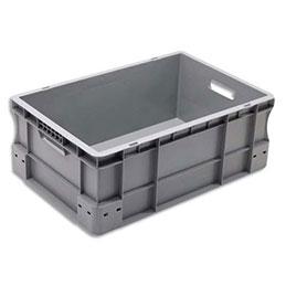 Bac de rangement Viso - bac de rangement - charge 30 kg - L60 x l40 x H23 cm - gerbable - gris (photo)