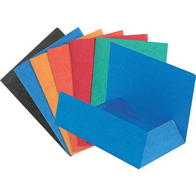 Chemise Exacompta Nature Future A4 à 3 rabats sans élastique de retenue - 200 feuilles - 240 x 320 mm - carton comprimé - couleurs assorties - paquet 50 unités