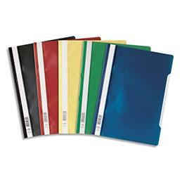 Chemise de présentation à lamelles Durable - A4 - couverture pvc transparente et dos assortis (photo)