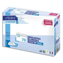 Enveloppes C5 162 x 229 mm GPV - blanches - auto-adhésives - 80 g - NF PEFC - paquet de 70