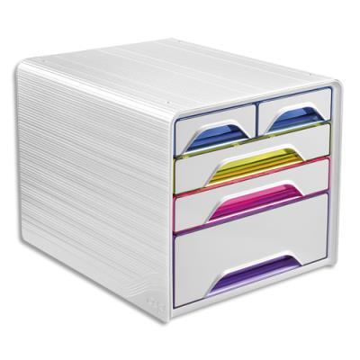 Module de classement CEP Smoove - 3 tiroirs 24 x 32 cm + 2 petits - L36 x H27,1 x P28,8 cm - multicolore