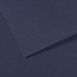 Papier dessin Canson Mi Teinte - 160 g - 50 x 60 - bleu indigo - manipack de 25 feuilles (photo)
