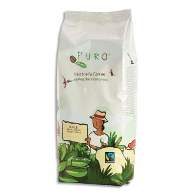 Café en grain Puro - 80 % arabica et 20 % robusta - paquet de 1 kg (photo)