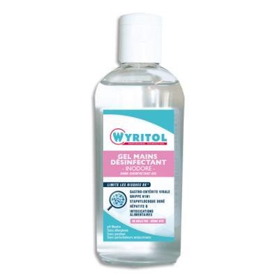 Gel hydro-alcoolique mains Wyritol - 100 ml - sans parfum - flacon (photo)