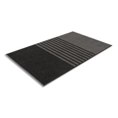 Tapis d'accueil 3 en 1 Paperflow - polypropylène et polyester microfibre - 90 x 150 cm - épaisseur 10 mm - gris