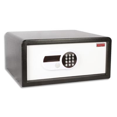 Coffre de sécurité Reskal - 26 L - L47 x H24 x P42,5 cm - serrure électronique - pour hôtels - blanc