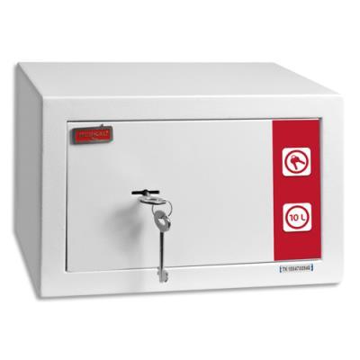 Coffre de sécurité Reskal SM1 Premium - 9,9 L - L31 x H20 x P20 cm - 2 clés fournies - blanc