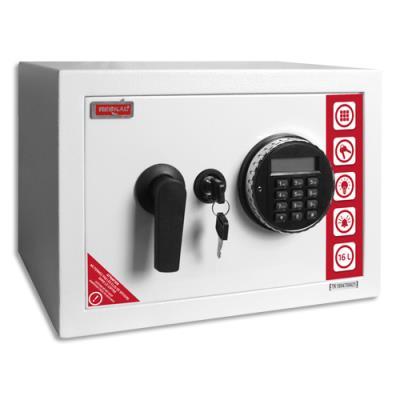 Coffre de sécurité Reskal SE2 Premium - 16,5 L - L35 x H25 x P25 cm - serrure électronique - blanc