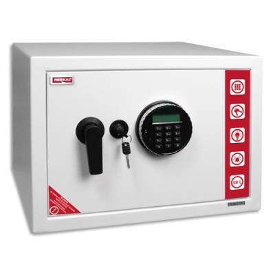 Coffre de sécurité Reskal SE3 Premium - 38,5 L - L43 x H31 x P35 cm - serrure électronique - blanc