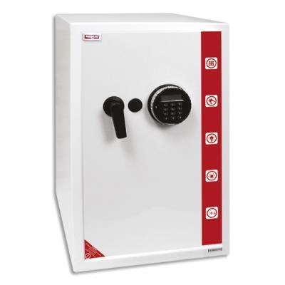 Coffre de sécurité Reskal SE4 Premium - 78 L - L39 x H60,5 x P41 cm - serrure électronique - blanc