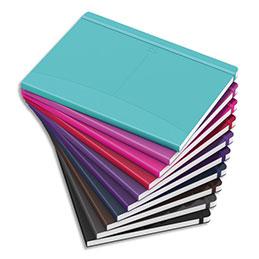 Carnet brochure Oxford Signature - A5 - 160 pages - 6 mm - couverture souple coloris assortis (photo)