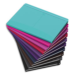 Carnet brochure Oxford Signature - A5 - 160 pages - 5x5 - couverture rigide coloris assortis