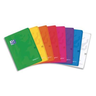 Cahier piqûre Oxford Easy Book - 24x32 cm - 96 pages - seyès - couverture polypropylène coloris assortis