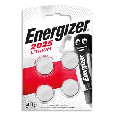 Piles Energizer - CR2025 -  Lithium - blister de 4 piles