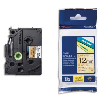 Ruban Brother Tze-PR831 - laminé - 12 mm x 8 m - noir sur fond or premium