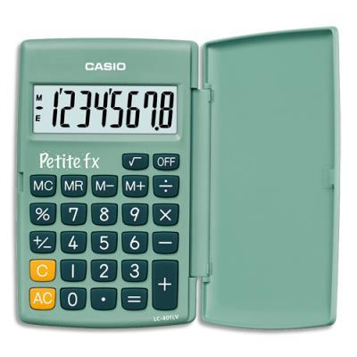 Calculatrice primaire petite Casio FX - verte