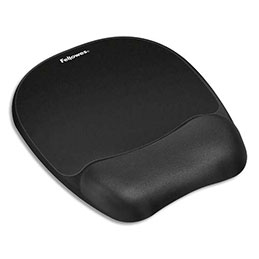 Tapis de souris repose poignet Fellowes - mousse - noir (photo)