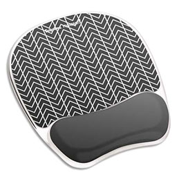Tapis de souris repose poignet Fellowes - gel - chevrons (photo)