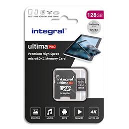Carte Micro SDXC Integral + adaptateur 128 Go Class 10 (photo)