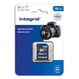 Carte Micro SDHC Integral + adaptateur 16 Go Class 10 (photo)