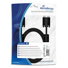 Cable moniteur SVGA MadiaRange MRCS147 - 18, m - avec anneaux ferrite - male/male - noir (photo)