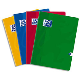 Cahier brochure Oxford Colorlife - A4 - 192 pages - 5x5 - coloris assortis