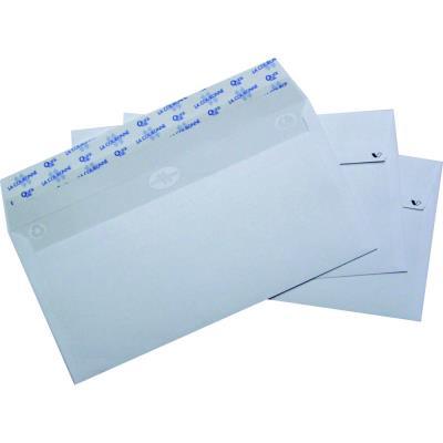 Boîte de 500 enveloppes La Couronne - auto-adhésives - 90g - ouverture facile - DL 110x220 mm - blanches