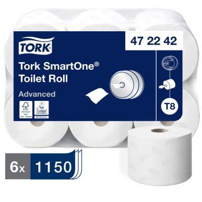 Papier toilette Tork pour distributeur Smartone - 1150 feuilles - lot de 6 rouleaux