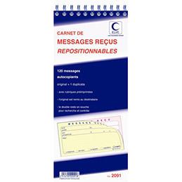 Bloc Ring Back - carnet de 120 messages reçus repositionnables