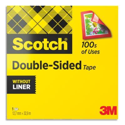 ruban adh sif double face scotch 12 mm x 33 m pour assemblage d finitif achat pas cher. Black Bedroom Furniture Sets. Home Design Ideas