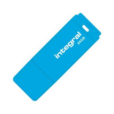 Clé USB 2.0 Neon - 64 Go - bleu (photo)