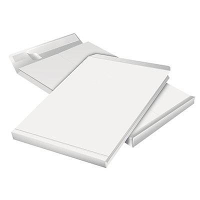 Enveloppe pour catalogue - kraft - format C4 - 30 x 229 x 324 mm - 130 g/m² fermeture autocollante avec bande protectrice - blanc - paquet 50 unités