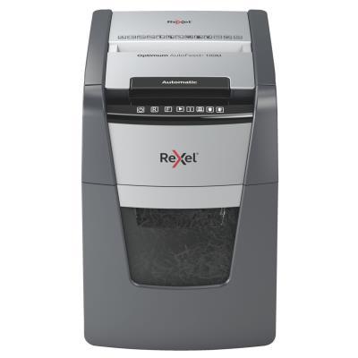 Destructeur de documents Rexel Optimum Auto+ 100M - coupe micro DIN P5 - 100 feuilles - corbeille 34 litres
