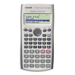 Calculatrice financière Casio FC200 V - 12 chiffres programmable (photo)